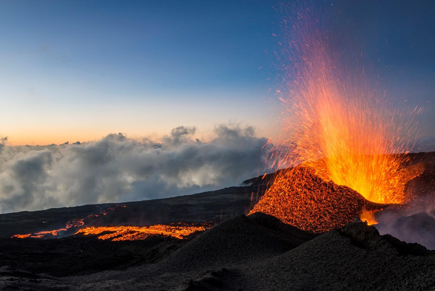 Un volcan Actif