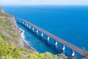 New coastal road of Reunion